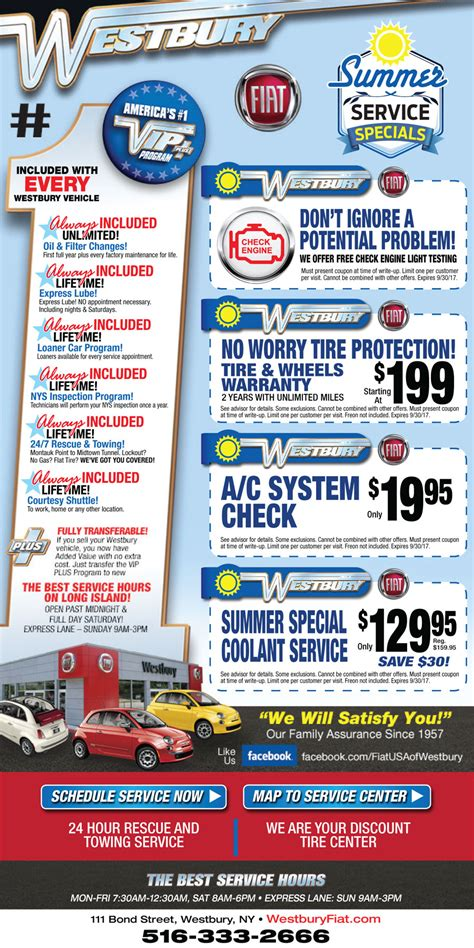 automotive service coupons long island nassau county oil