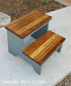 Kids step stool with yardstick steps domestic imperfection for Bathroom step stool for toddlers