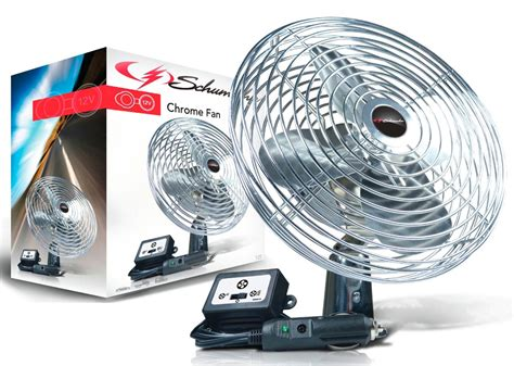 12 volt rv fan 12v chrome fan with inline power switch