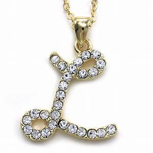 New initial alphabet letter l pendant necklace high polish for Gold necklace with letter l