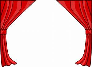 just red curtains clip art at clkercom vector clip art With theatre curtains clipart