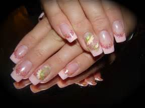 gel nails design gel with acrylic 3 d flower nail nailic