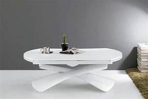 Couchtisch Weiß Höhenverstellbar : couchtisch wei h henverstellbar ausziehbar aus lackiertem mdf ~ Whattoseeinmadrid.com Haus und Dekorationen