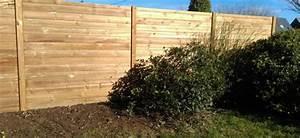 Palissade De Jardin : pose d 39 une palissade en bois grand champ pr s de vannes ~ Melissatoandfro.com Idées de Décoration