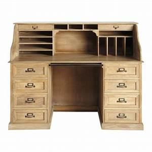 Bureau 150 Cm : bureau meuble bureau en bois ou bureau secr taire maisons du monde ~ Teatrodelosmanantiales.com Idées de Décoration