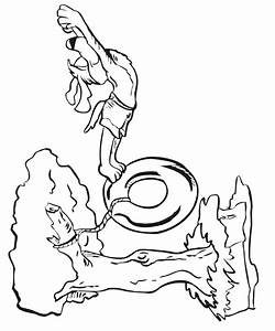 Free coloring pages of a lake