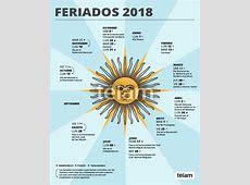 Calendario Feriados 2018 Argentina ¿Cuantos Feriados