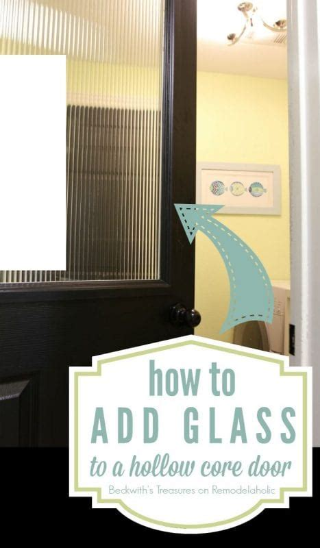remodelaholic   add  glass window   hollow core