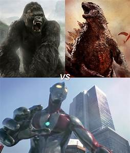 King Kong Vs Godzilla Vs Ultraman by VMJML1er on DeviantArt