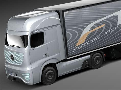 mercedes benz ft 2025 future truck with tr 3d model max