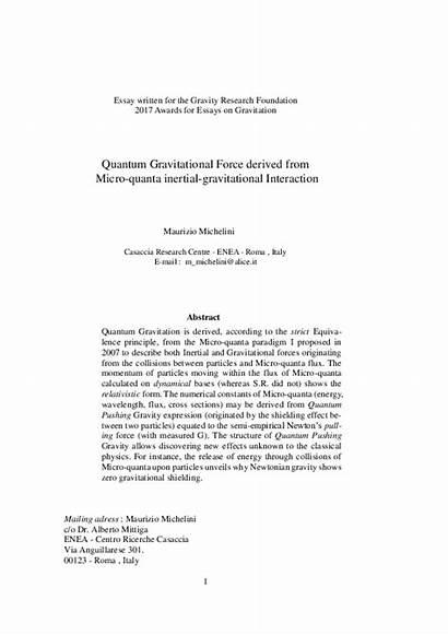 Gravity Essay Gravitational Force Essays Gravitation Quanta