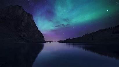 Sky Northern Night Lights Aurora Stars Wallpapers