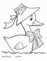 Goose Coloring sketch template