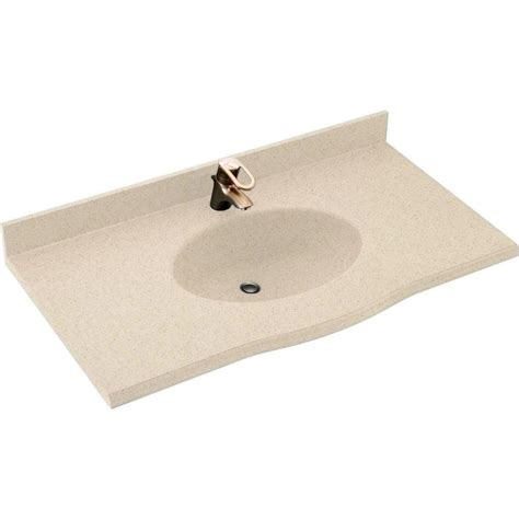 43 x 22 vanity top swan europa 43 in w x 22 5 in d solid surface vanity top