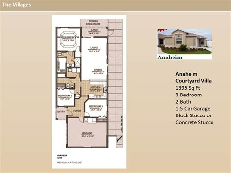 floor plans the villages fl the villages homes courtyard villas anaheim model