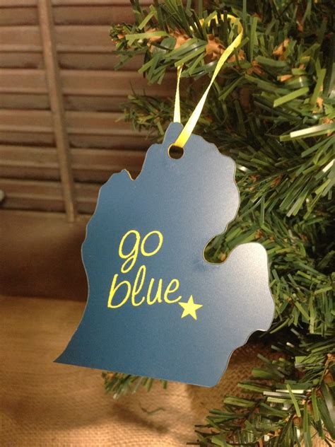 items similar to university of michigan ornament state of