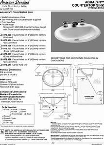 American Standard Aqualyn 0475 020 Users Manual