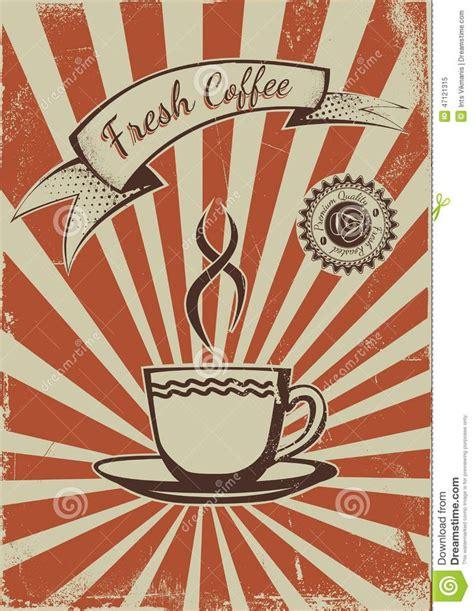 !930's art deco belgian source: Vintage Coffee Poster Template Stock Vector - Image: 47121315 | Schilder