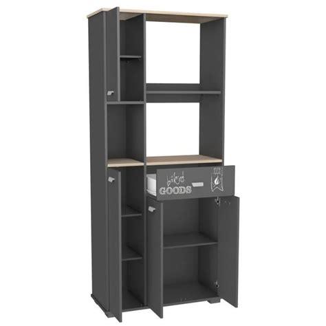meuble cuisine et gris meuble cuisine buffet avec 3 portes et 1 tiroir gris 90 x
