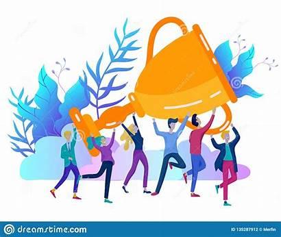 Team Success Celebrating Winner Happy Victory Concept