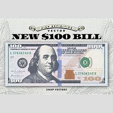 Vector New $100 Bill Template  Illustrations Creative
