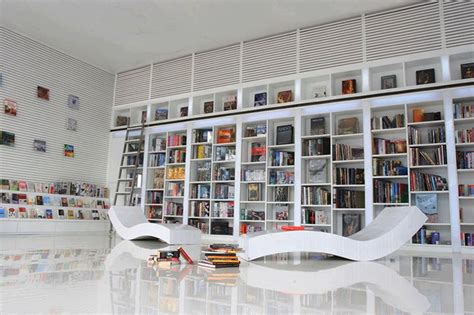 furniture category mid century modern bookcases bookcase view in home office modern white shelving and themes