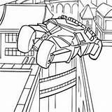 Batman Batmobile Coloriage Colorear Dibujos Batimovil Pintar Jedessine Tren Wayne Bruce Batalla Listo Source Hellokids sketch template