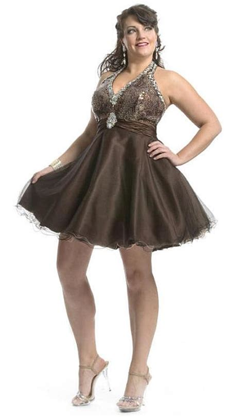 Cheap Plus Size Cocktail Party Dresses 08