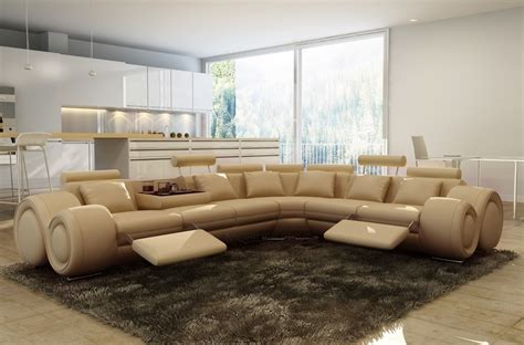 canape d angle italien canapé d 39 angle en cuir italien 7 places excelia beige 2