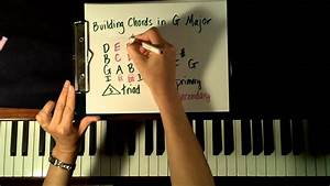 Key Of G How To Form And Play Chords On Piano For