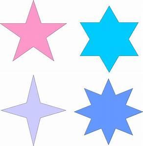 Moldes de estrellas para imprimir y recortar :: Diseños de estrellas para decorar :: Dibujos de