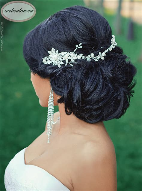 Updo Hairstyles For Black Wedding by Black Updo Wedding Hairstyle With Headpieces Deer Pearl