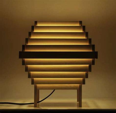diy hexagonal wooden lamps handmade wooden lamp