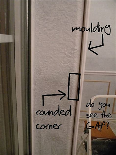 adding moulding  rounded corners house  hepworths