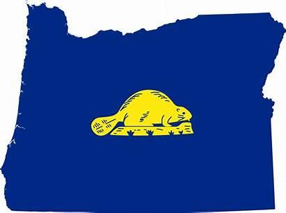 Oregon Flag Map Obverse Commons Wikimedia Pixels