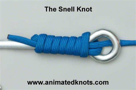 snell knot   tie  snell knot knots