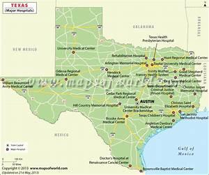 Texas Hospitals Map, Best Hospitals in Texas