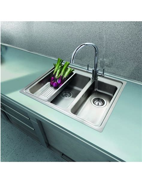 kitchen sink no drainer topmount 1 5 bowl inset sink with tap modern square 5868