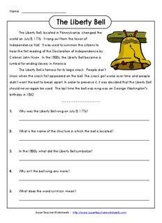 The Liberty Bell  Super Teacher Worksheets  Pdf Drive