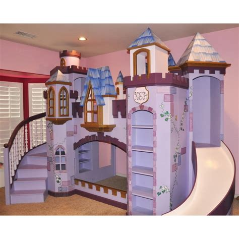bedroom alluring castle bunk beds with slide and stairs