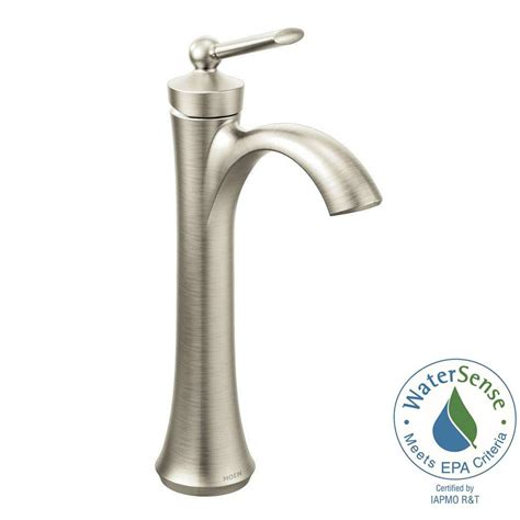 moen wynford single hole single handle vessel bathroom