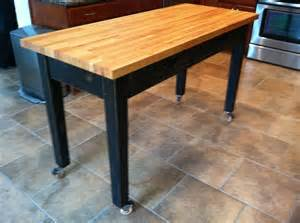Kitchen Rolling Islands Rolling Kitchen Island With Cherry Butcher Block Top For My Kitchen If Not Big Can