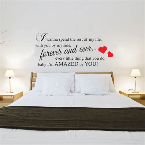 stickers phrase chambre adulte lonestar amazed lyrics wall sticker contemporary vinyl