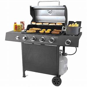 Gas Grill 4 Burner BBQ Backyard Patio Stainless Steel