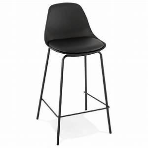 Chaise Mi Hauteur : tabouret de bar chaise de bar mi hauteur industriel oceane mini noir ~ Teatrodelosmanantiales.com Idées de Décoration