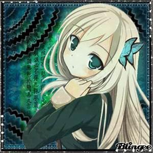 Anime Girl Green Eyes Picture #129036301   Blingee.com