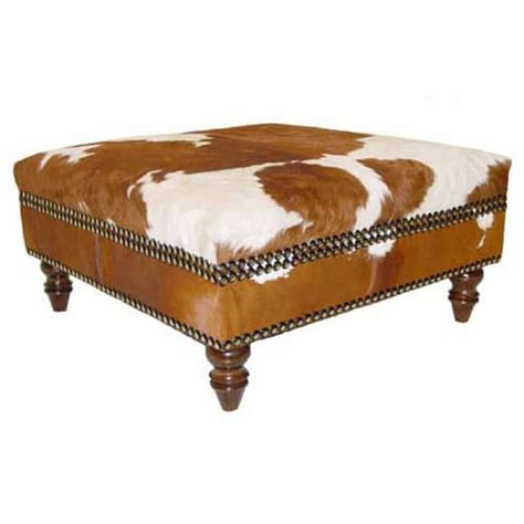 Cowhide Bench Ottoman by Cowhide Pieces For The Living Room Magazine