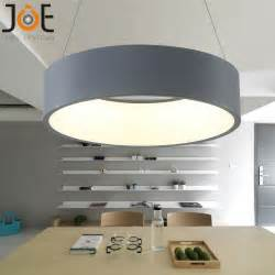 modern led pendant lights circle suspension for dining