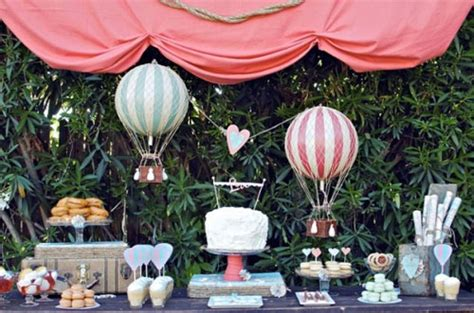 Up Up And Away Hot Air Balloon Baby Shower Ideas