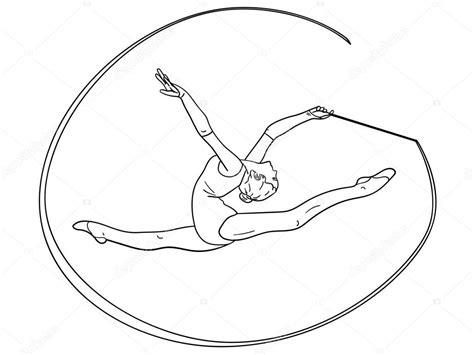disegni di ginnastica artistica da colorare disegni di ginnastica ritmica oggetto sulla ginnastica